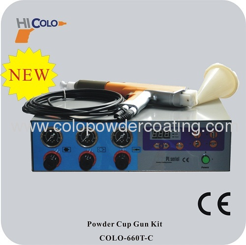 Portable Intelligent with 120gram cup for testing and laboratory use Manual Powder Coating Machine COLO-660T-C