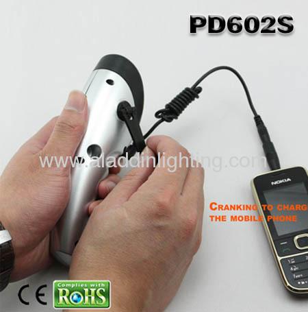 novel solar powered dynamo LED Torch