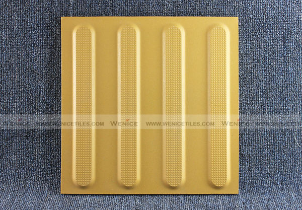 Yellow stripe line type tile for train station
