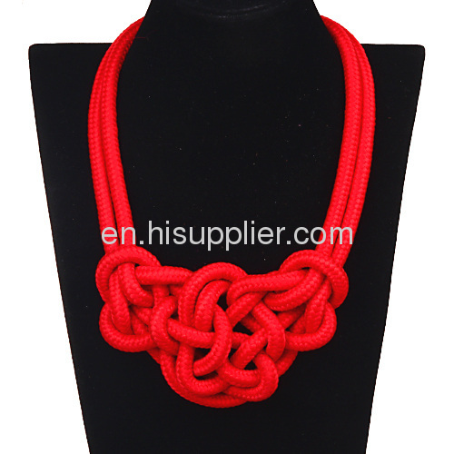 2013 Wholesale Fluorescence Rope Bib Collar Choker Necklaces For Women