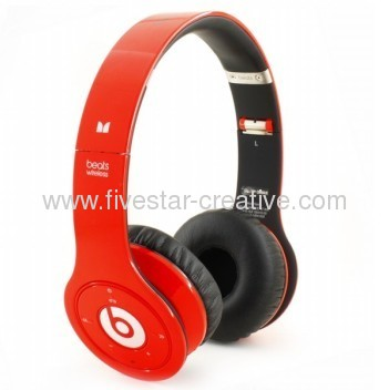 Monster SOLO HD Headphone with microphone and control talk red