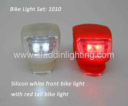 Cheapest silicon LED bike light set