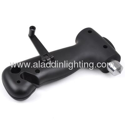 Car emergency hand cranking dynamo LED torch