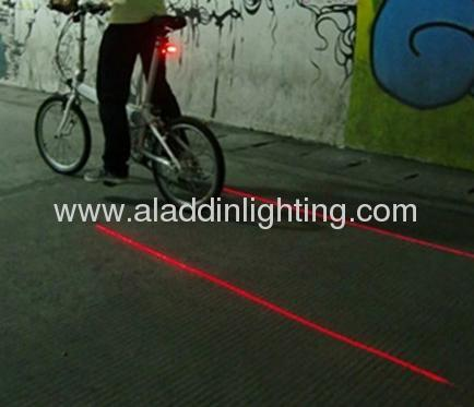 Laser bicycle light tail bike light