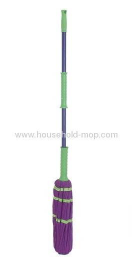 Commercial Self-Wringing Ratchet Twist Mop Blended Yarn Head 54 Handle