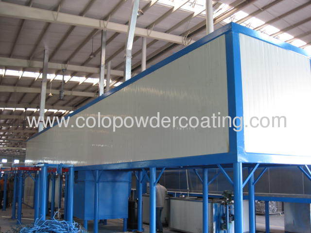 automatic conveyor spray coating line with tunnel oven