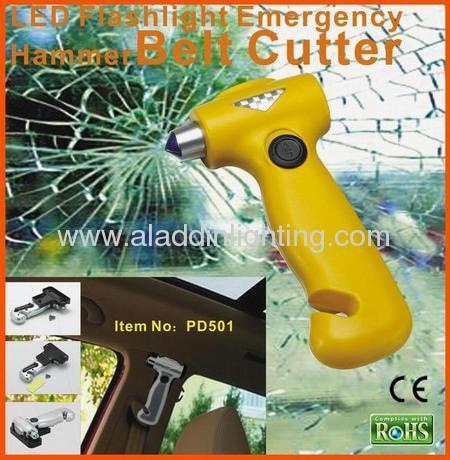 rescue life hammer with dynamo flashlight