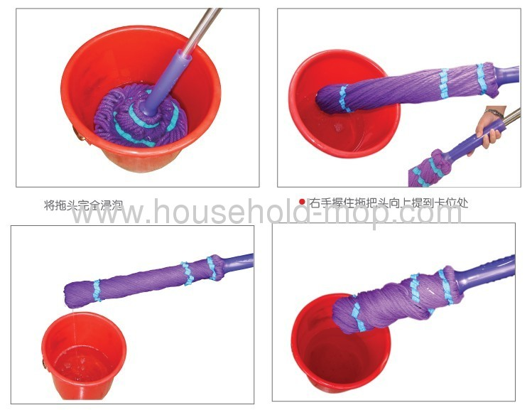 Twister Strip Mop with Handled Bucket
