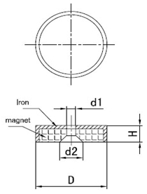 Permanent Nedymium Cup Magnet