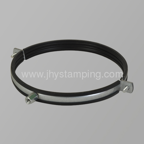 pipe clamp with rubber
