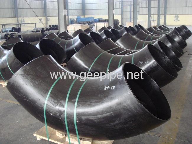 ASME B 16.9 carbon steel 90 long radius bott-welded elbow