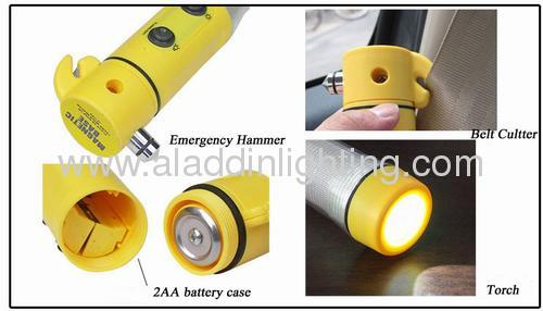 Emergency LED Flashlight with life hammer