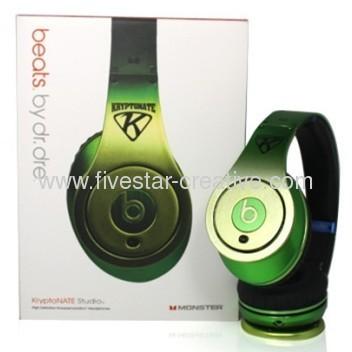 Monster Beats Studio Headphones Gradient Apple Green