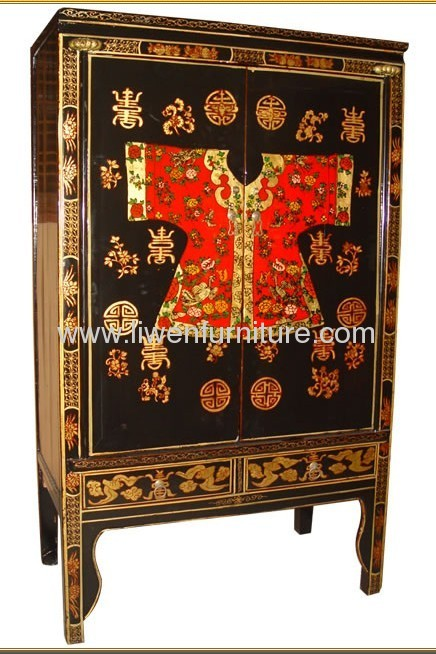 Chinese classical paint wardrobe