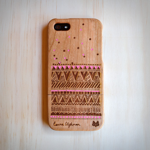 Engraved Wooden Cell Phone Case for Apple iphone