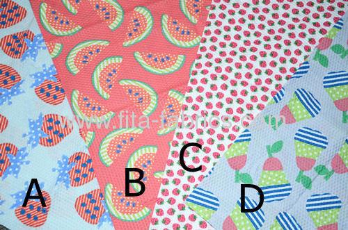 2013 New trendy, fruitprinted seersucker fabric for children