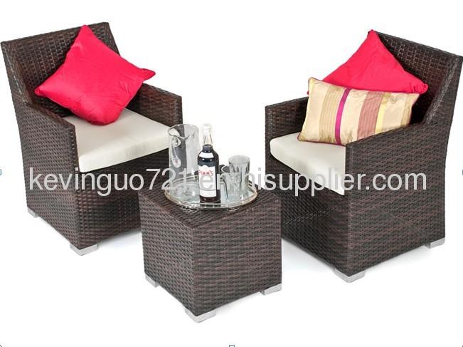3 Piece Rattan All Weather Furniture Outdoor GardenSet