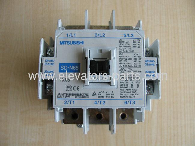 Mitsubishi Elevator Spare Parts contactor SD N65