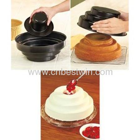 3 TIER BAKE & FILL CAKE PAN---CAKE MOULD