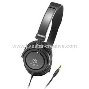 Audio Technica ATH-SJ1 Headphone Headsets in Black