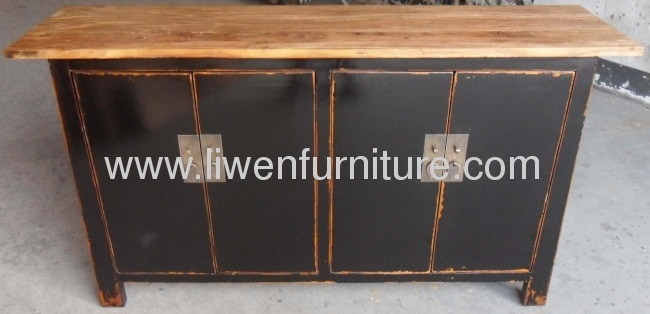 Chinese old elm wood sideboard