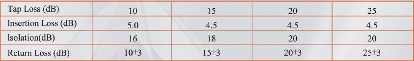 LOTTECK4.5-5.0dB 33-3G1T 1 WAY TAP