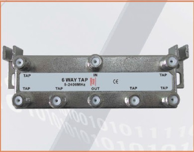 5-2400 MHz LOTTECK 33-3G6T 6-way tap