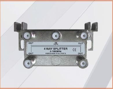5-1000MHZ LOTTECK 33-1G4W-N/B 4-WAY SPLITTER
