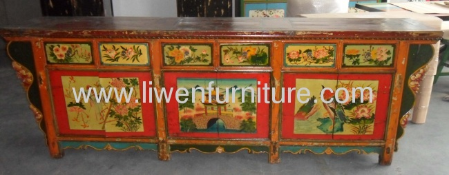 Mongolia old painted buffet
