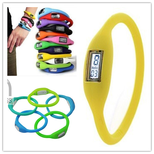 Fashion Silicone Bracelets watches with digital