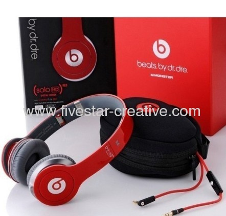 Beats Solo HD On-Ear High Definition Headphones Red