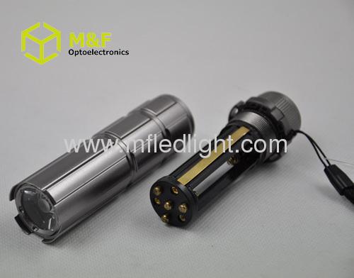 strong power 1w White LED aluminum pocket torch light