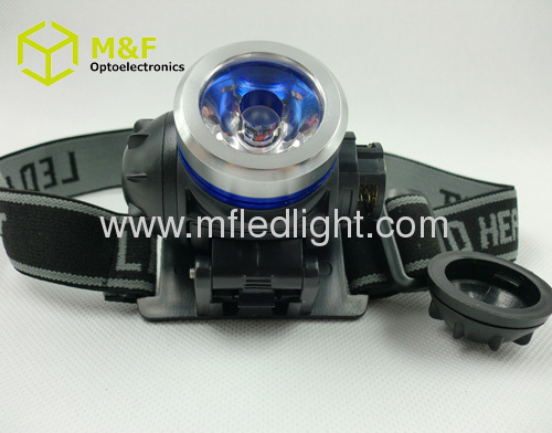 3modes portable cordless led cap light mining headlight