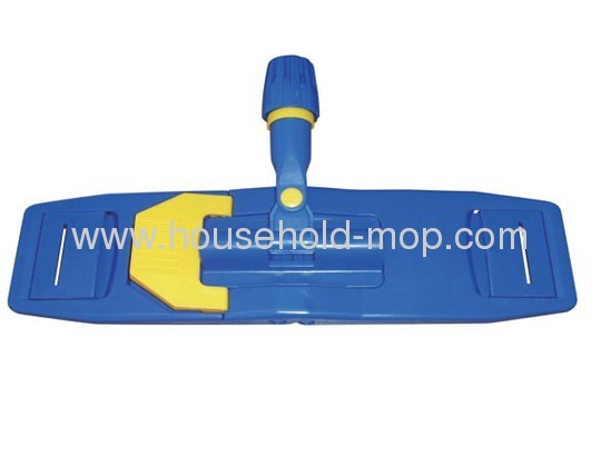Plastic microfiber chenille flate mop frame head