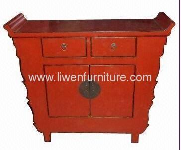 Oriental red antique chest