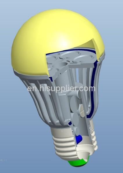 7W MCOB LED Bulb E27 R60,aluminum plastic housing