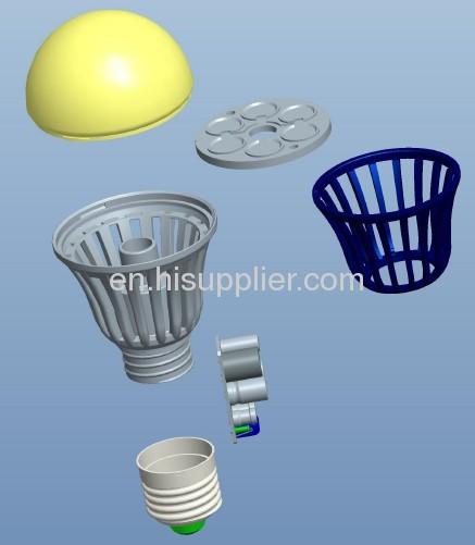 9W MCOB LED Bulb E27 R60,aluminum plastic housing