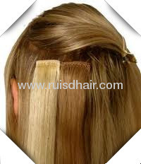 100%INDIAN VIRGIN REMY GOOD QUALITY clip in hair extension