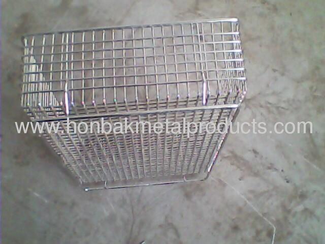 Stainless steel Wire mesh washing basket