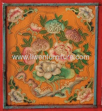 Tibetan Ppainting antique armoire