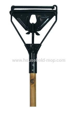 Metal Wet Mop Gripper With Wooden Handle