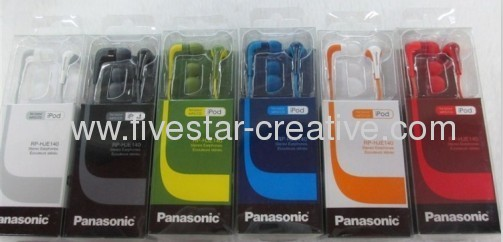 Panasonic RP-HJE140 L-Shaped Stereo Ear Earbud Headphones for iPod iPhone MP3