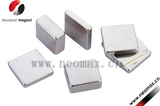 Block shape neodymium magnet