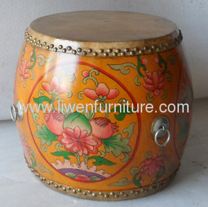 Antique drum reproduction stool