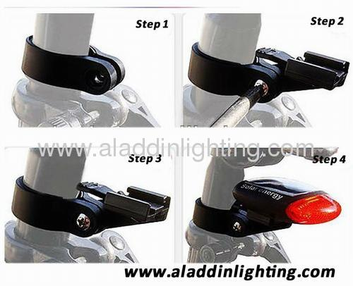 Solar powered LED Bike light tail light
