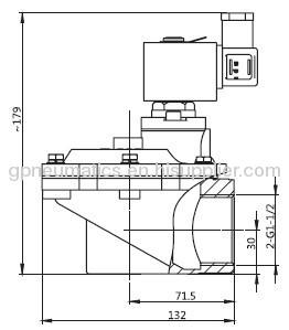 1 1/2Right angle Pulse valve
