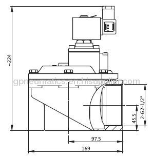 2 1/2Right angle Pulse valve