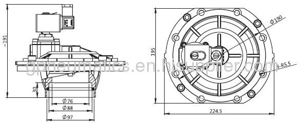 3embedded Pulse valve