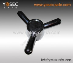 Three prong gun safe handle for sales