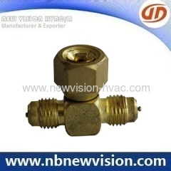 Brass Tee Access Fitting - Charging Valve